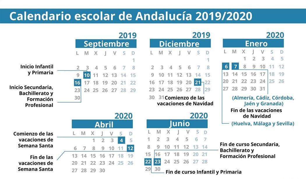 Calendario 2020 Con Festivos.Calendario Escolar 2019 2020 Festivos Puentes Y Vacaciones De